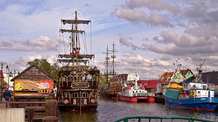 Hafen von Leba, Polen