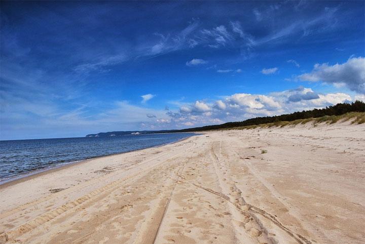 Strand an der Ostsee, Polen